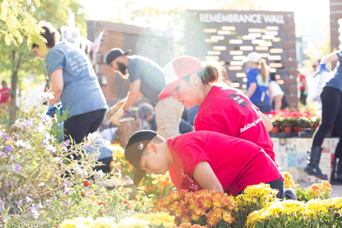 Volunteers at the Las Vegas Healing Garden