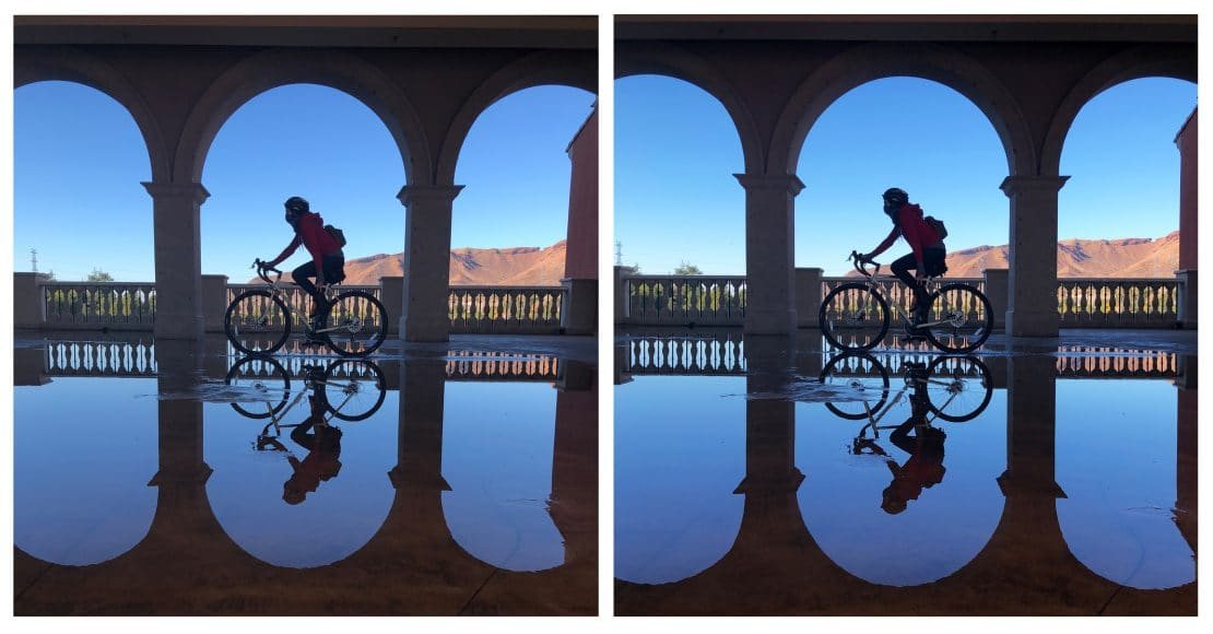 Showing the difference of how correcting image distortion of make your photographs better.